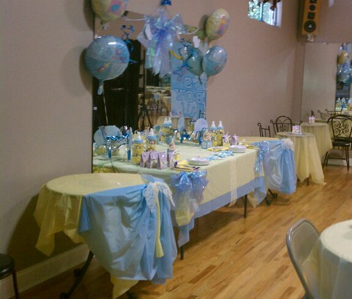 Facility rental for Baby shower decoration set